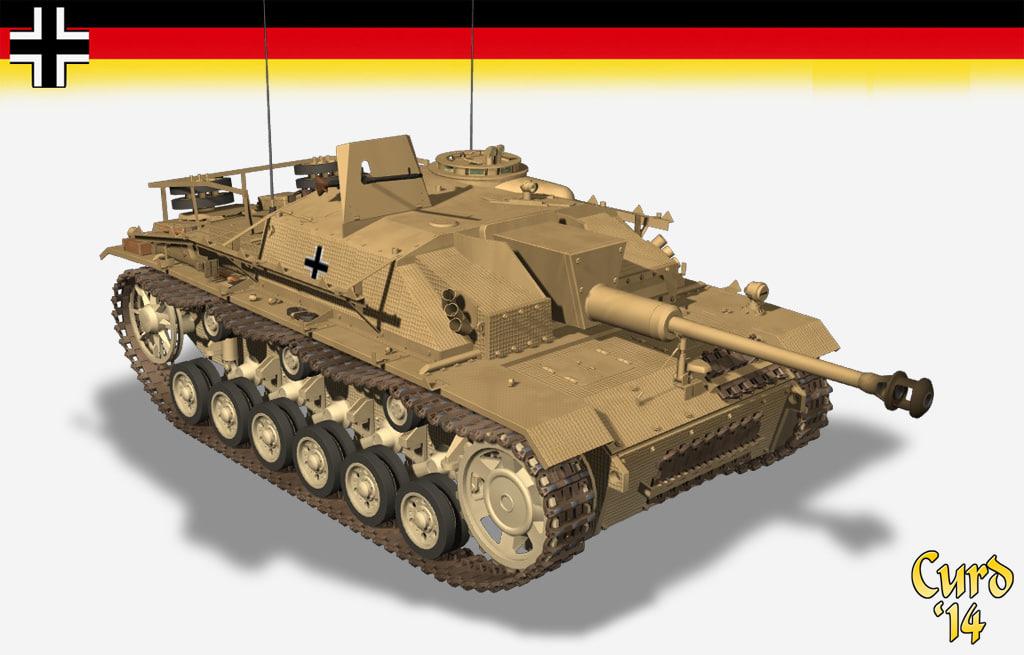 3d stug iii tank