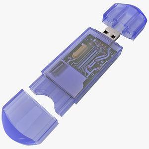3d usb memory card reader