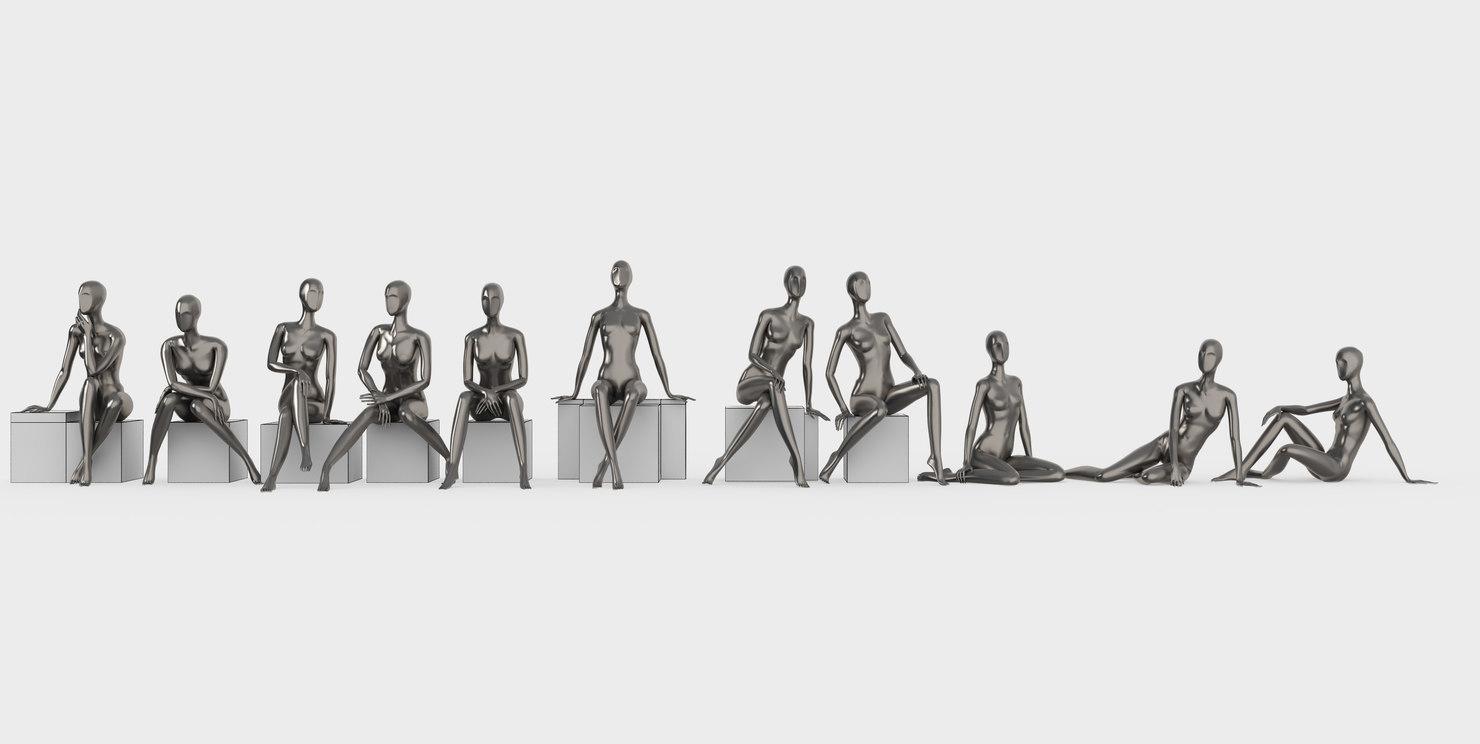 set female mannequins 3d max