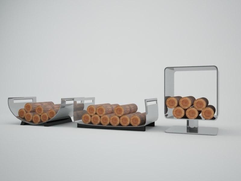 3ds max firewood rack