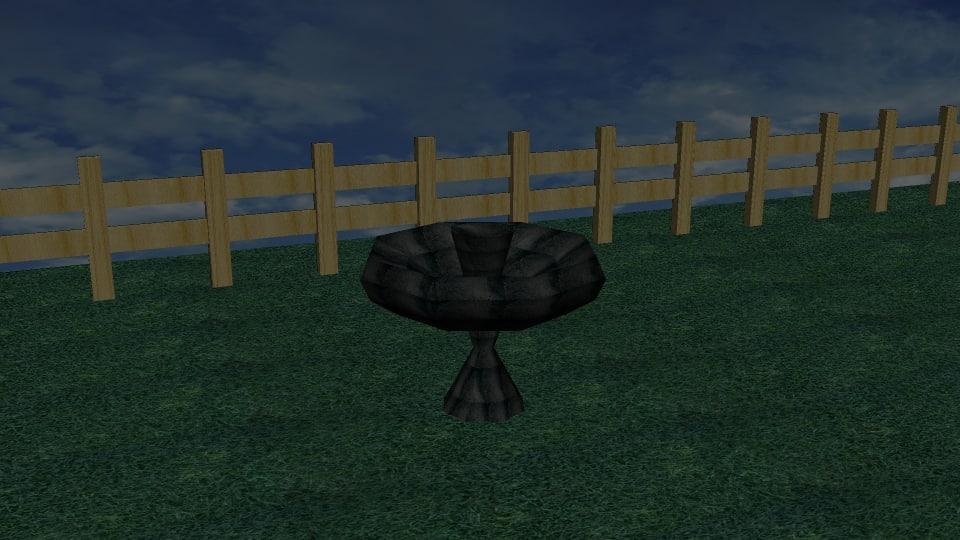 3d model terrace fountain