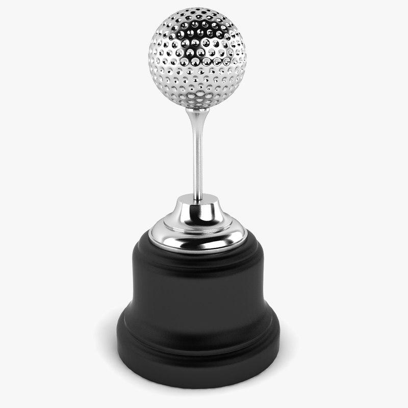 3d model golf ball trophy