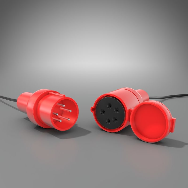 power cable 3d c4d