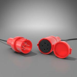 power cable 3d c4d