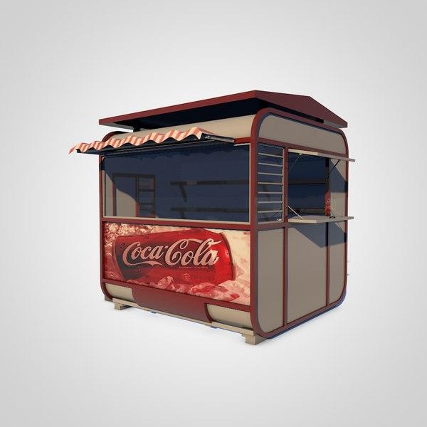 3d model of kiosk shop store