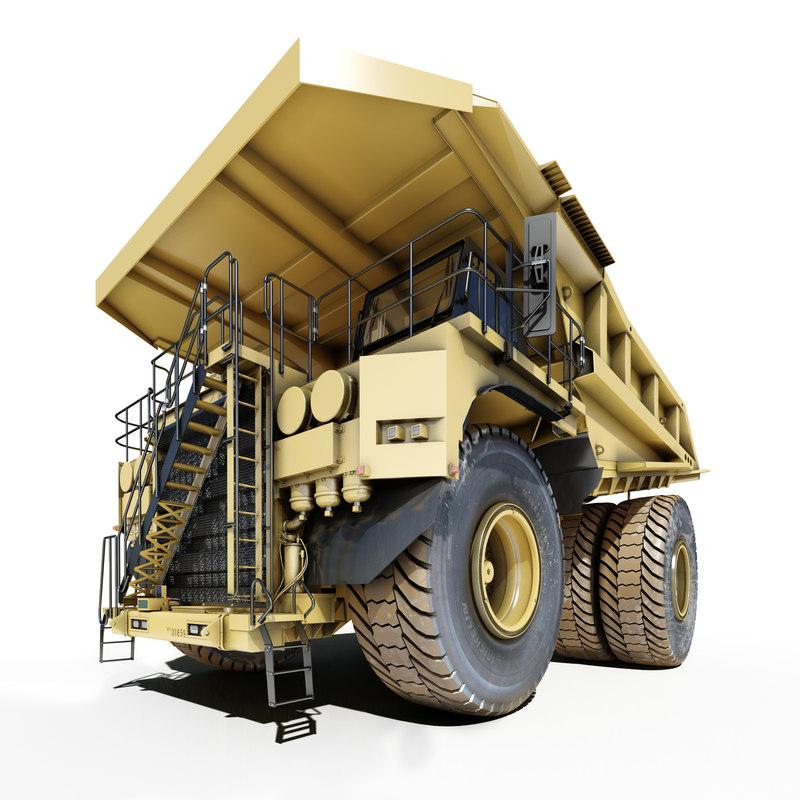 mining dump truck cat797 3d model