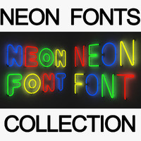 3ds max neon font