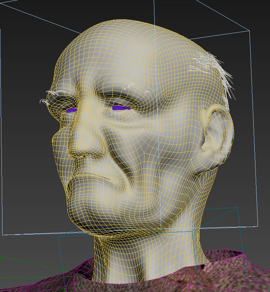 old men riged 3d max