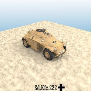 3d sd kfz 222 armoured car