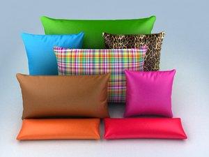 3d model pillow set vol1