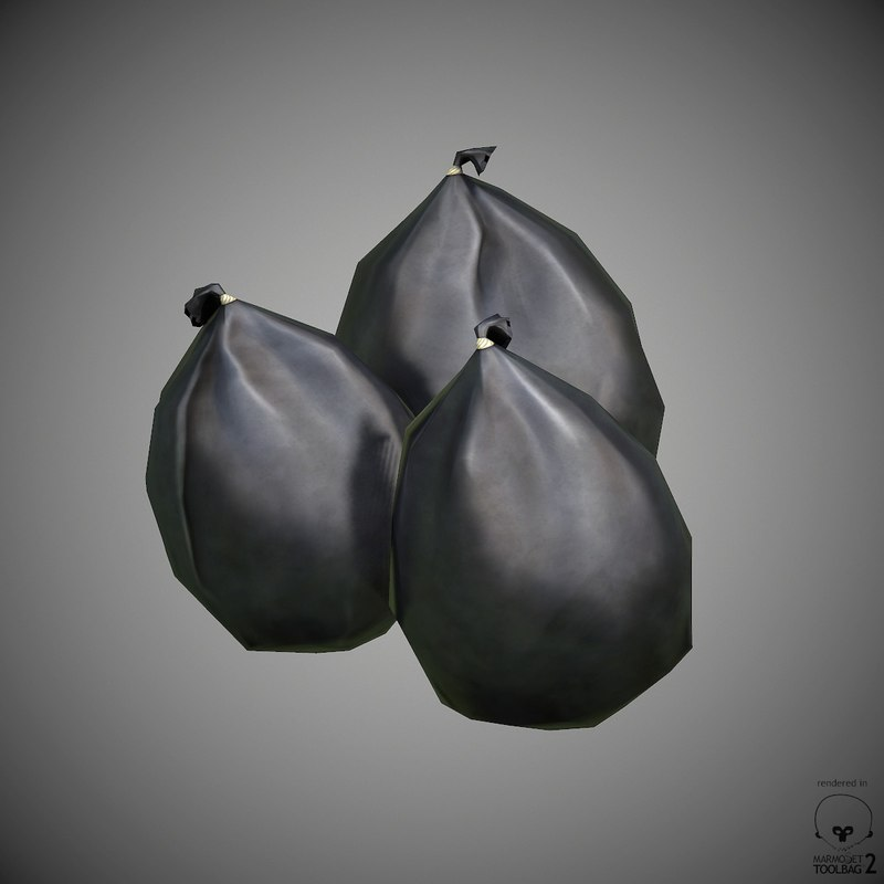 3d trash bags model