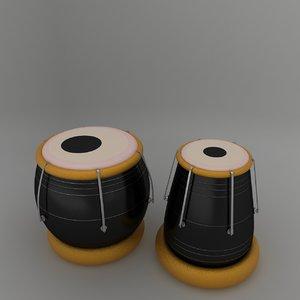 tabla musical 3d model