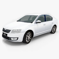 3d model vehicle skoda octavia 2013