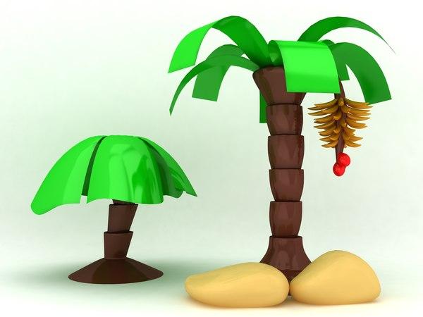 cartoon tree 3d max