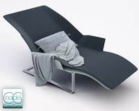 3d c4d chaise blanket pillows