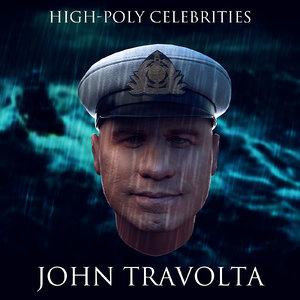 john travolta 3d model