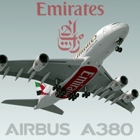 3d model airbus a380 emirates