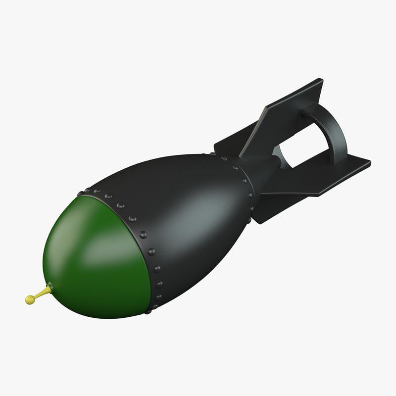 3d cartoon aerial bomb