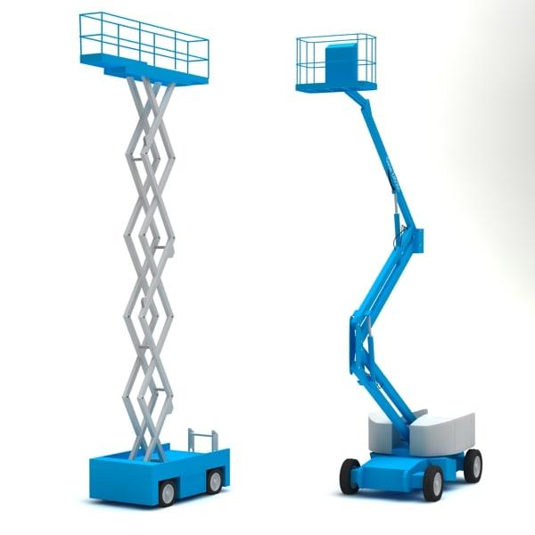 3d scissor lift model