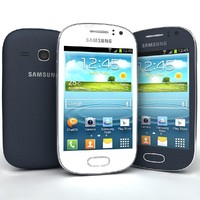 Samsung Galaxy Fame S6810 Bule And White