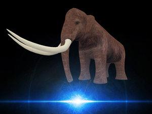3d elephant mammouth model