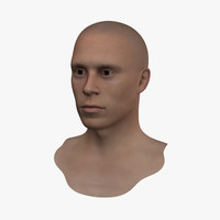 Realistic Human Head With Texture
