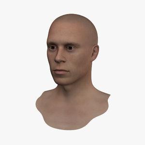 3d realistic human head