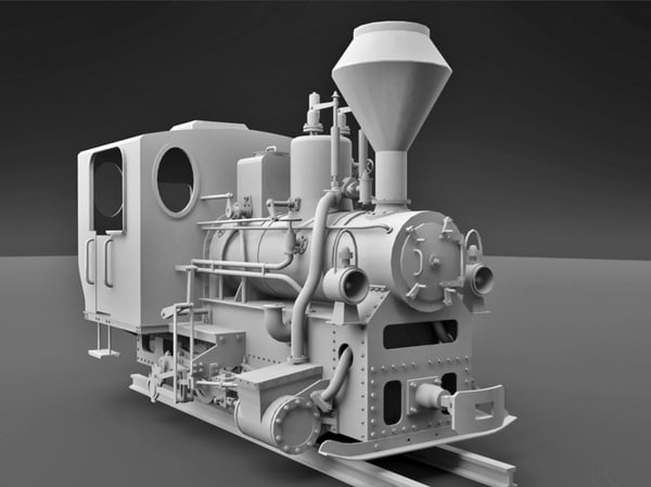 free max mode 0-6-0 steam locomotive narrow