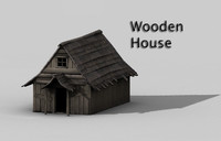 3ds max medieval house wooden