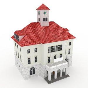 free house interior 3d model