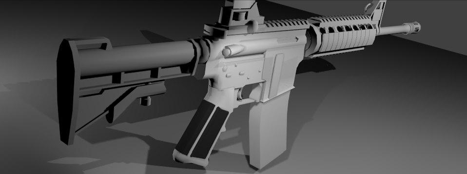 blender gun m4ai