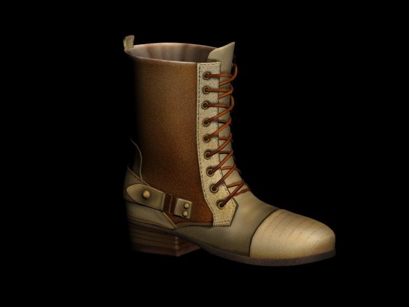 boot 8 3d model