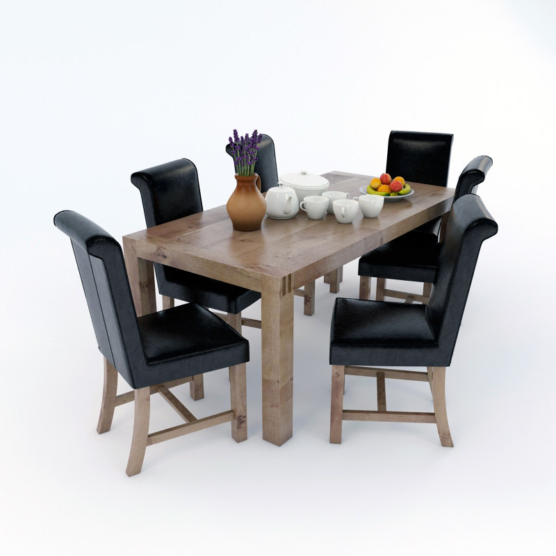 Table scene 3d model for Dining room table 3ds max