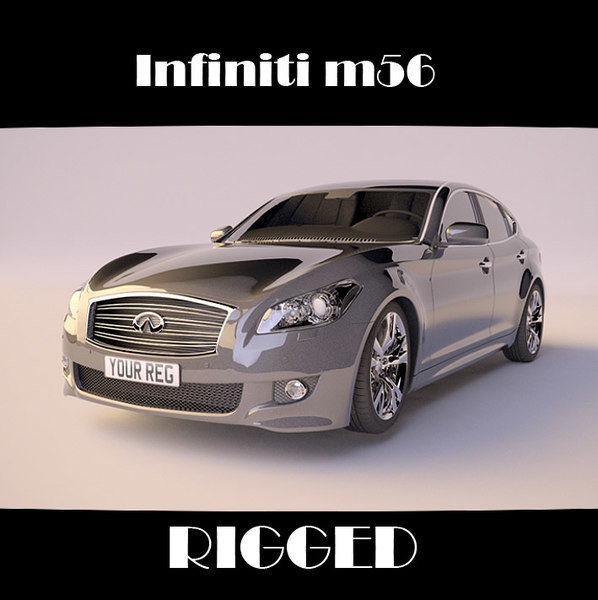 infiniti m56 rigged car 3d model