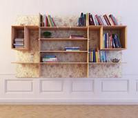 3d bookshelf 43 books