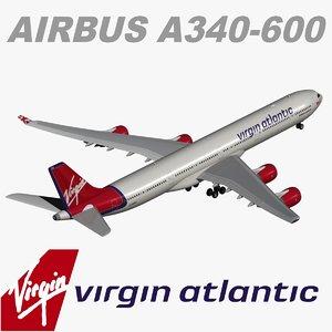 obj airbus a340 600 virgin atlantic