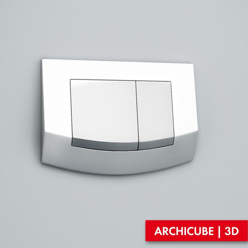 flush button 3d max