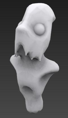 free obj model alien bust