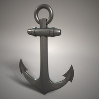 iron anchor 3d model