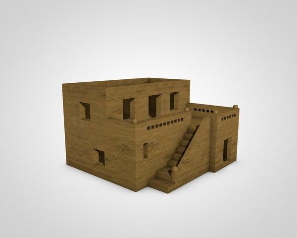 arab house 3d 3ds