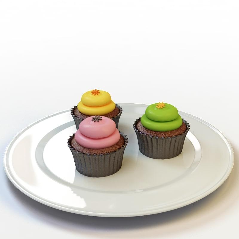 3d model of cupcake 20