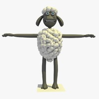 c4d dark sheep cartoon character