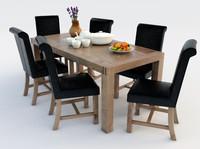 3d table scene
