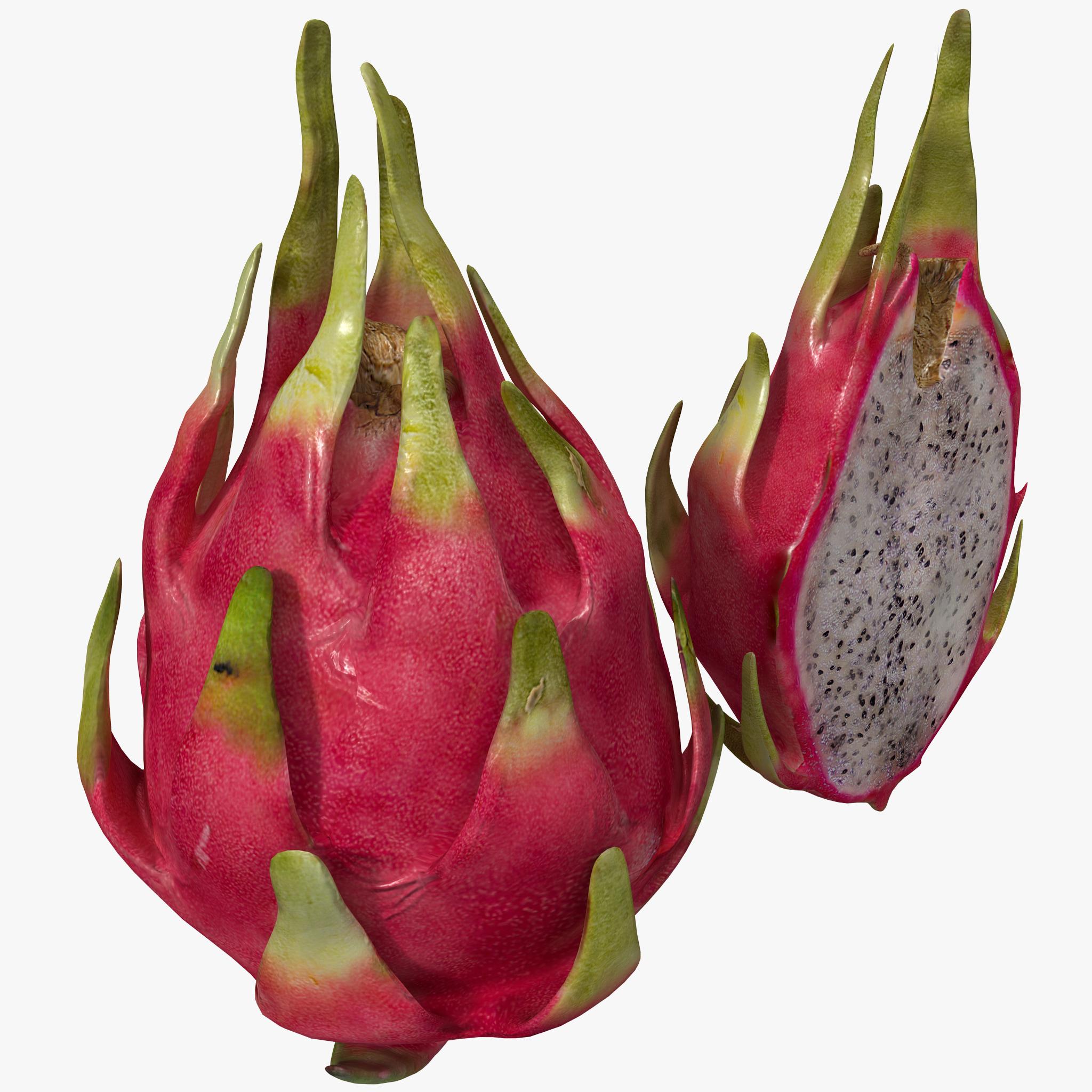 dragonfruit set 3d obj