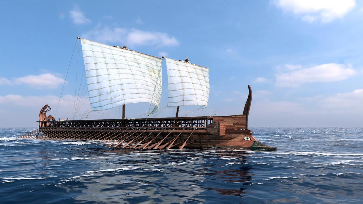 3d ancient trireme model