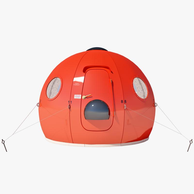 igloo satellite cabin 3ds
