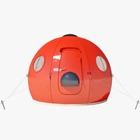 igloo satellite cabin 3ds