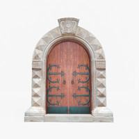 3d model medieval italian stone doorway