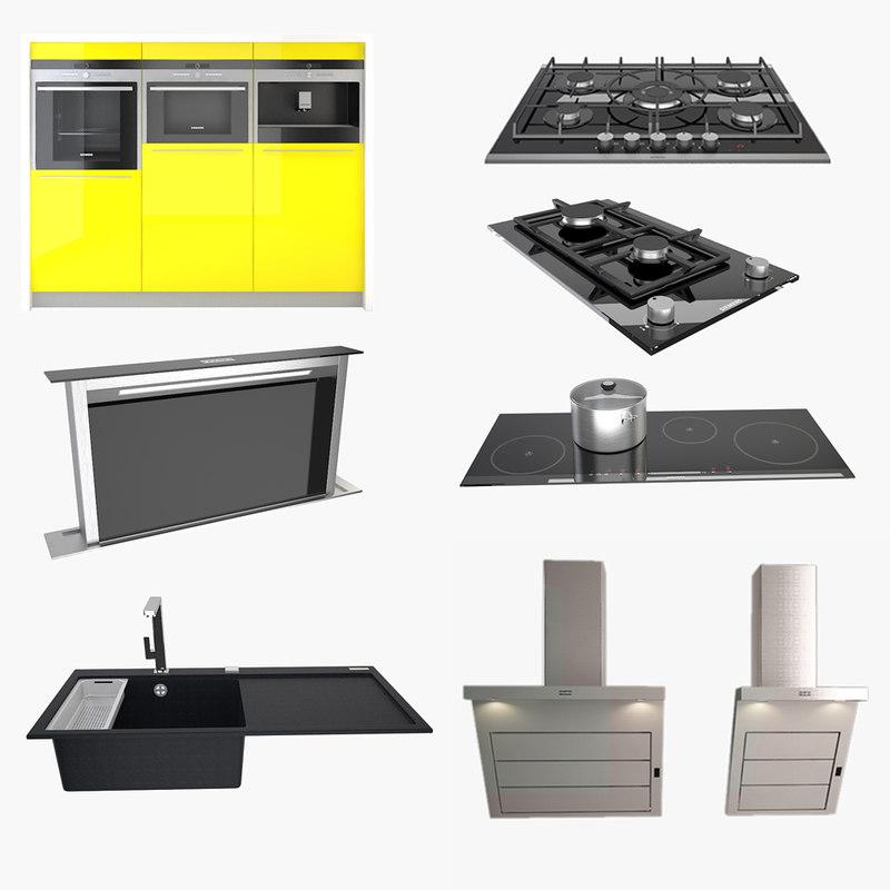 kitchen appliance fixtures 3d model