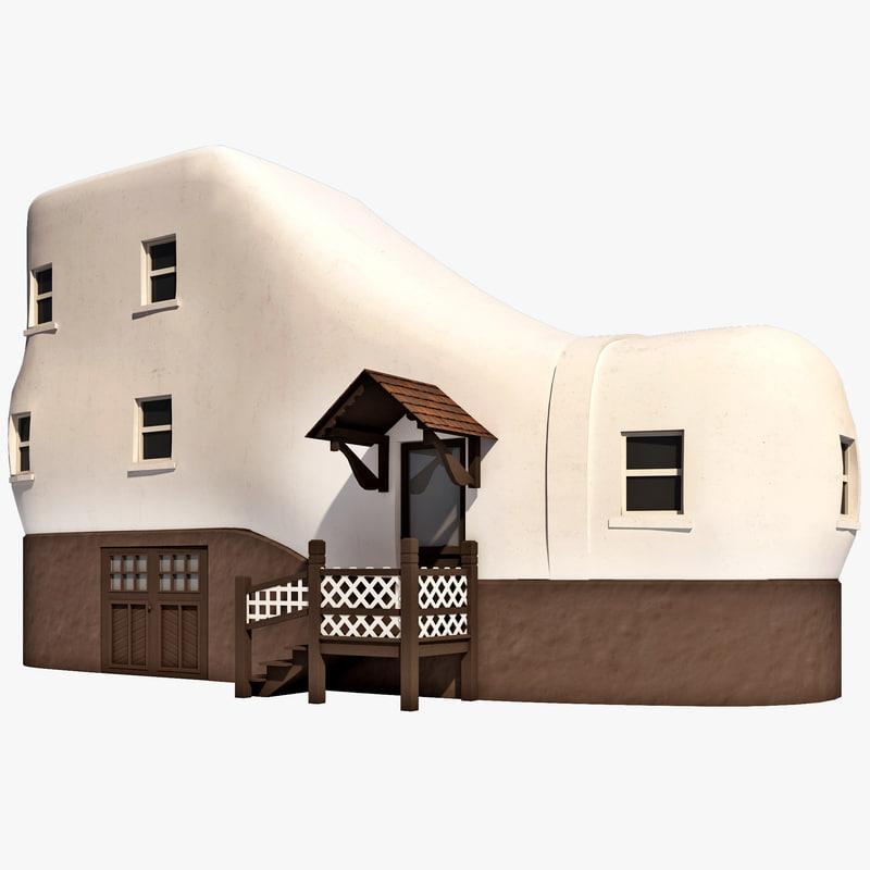 3d model shoe house